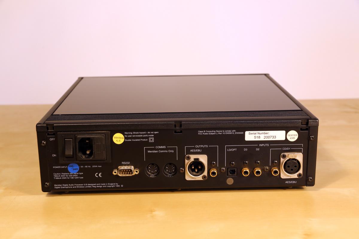 Meridian Digital Audio Processor 518 – Audio Images
